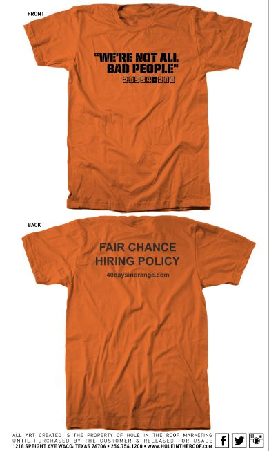 Fair Chance t-shirts