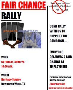Fair Chance Rally Flyer